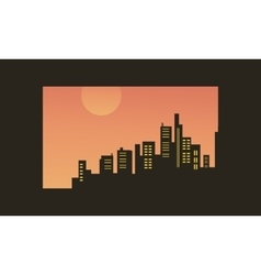 Beacutiful city silhouettes vector