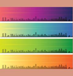 beirut multiple color gradient skyline banner vector image