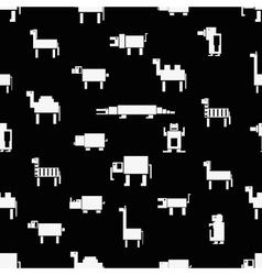 black and white square digital simple retro vector image