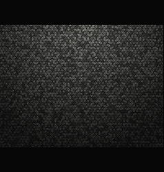 black triangle tiles background vector image