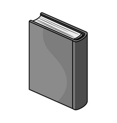 blue standing book icon in monochrome style vector image