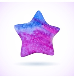 Bright watercolor star vector image
