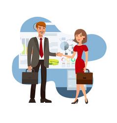 Business negotiation color vector