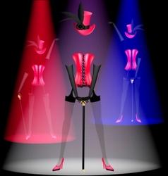 cabaret dancer vector image vector image