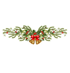 Christmas holiday decorations vector