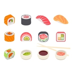 Colorful Sushi Set vector