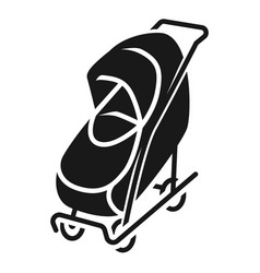 Covered stroller icon simple style vector