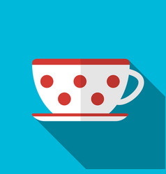 Cup on blue background icon vector