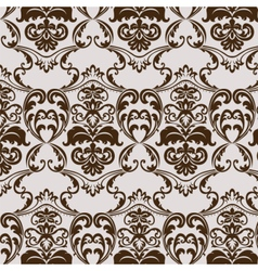 Damask luxury ornament pattern vector