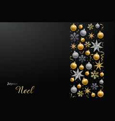 dark festive background with realistic vector image