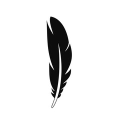 decorative feather icon simple style vector image