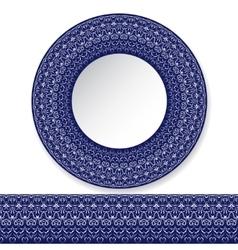 Decorative plate with a pattern vector image