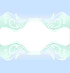 delicate blue and green background with floral vector image
