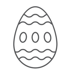 easter egg thin line icon food and easter vector image