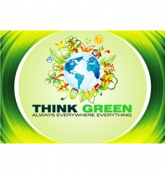 Ecology green background vector