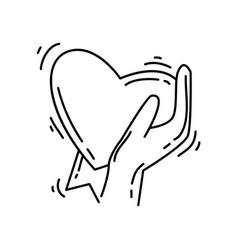 ecommerce favorite icon hand drawn icon set vector image