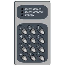 Electric digital door lock vector