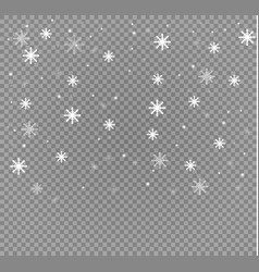 Falling snow effect isolated on transparent vector