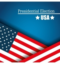 Flag usa presidential election graphic vector