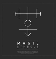flat style of geometric magic symbol vector image