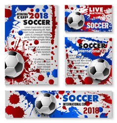 Football cup soccer team background posters vector