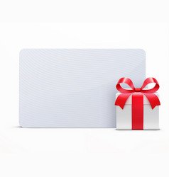 Glossy gift box vector
