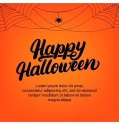 Happy Halloween hand written lettering card with vector