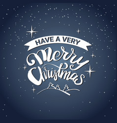 have very merry christmas message typography icon vector image
