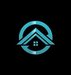 house icon abstract construction logo vector image