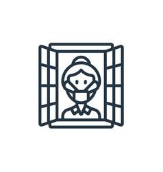 Isolation icon isolated on white background vector