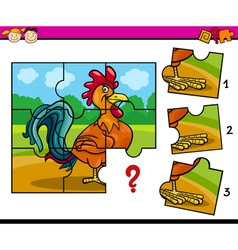 Jigsaw preschool cartoon task vector