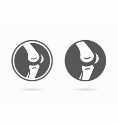 Joint icon knee bones logo template vector
