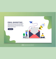 Landing page template email marketing modern vector