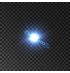 lens flare effect of shining star light vector image