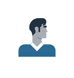Man side view turned head casual outfit vector image