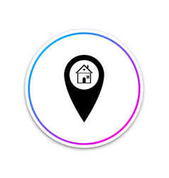 map pointer with house icon isolated on white vector image