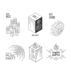 Music set label vector image