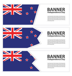 New zealand flag banners collection independence vector