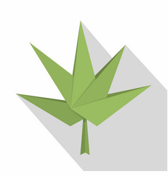 origami paper plant icon flat style vector image