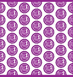 Pattern background buy one get one free icon vector