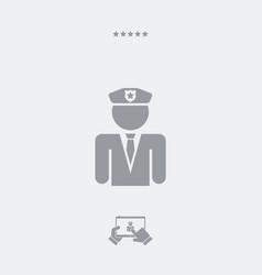 policeman concept - minimal flat icon vector image