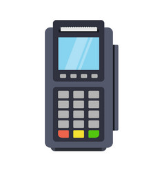 Pos terminal icon in a flat style vector