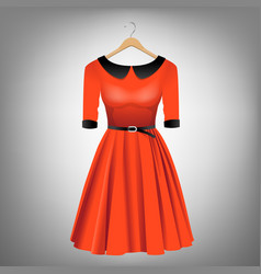 red dress on hanger vector image