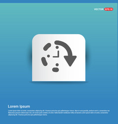 Repeat time icon - blue sticker button vector