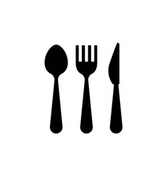 restaurant cutlery icon vector image