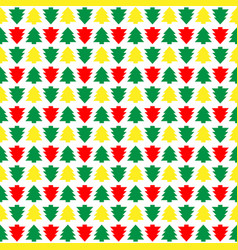 seamless christmas tree christmas colorful new vector image