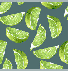 seamless pattern in green and marine colors with vector image