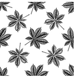 seamless pattern with black and white horse vector image