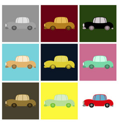 Set of icon in a flat style car vector