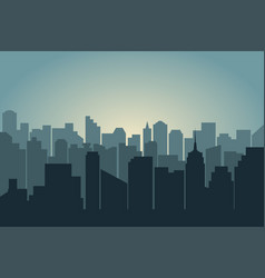 silhouette city vector image